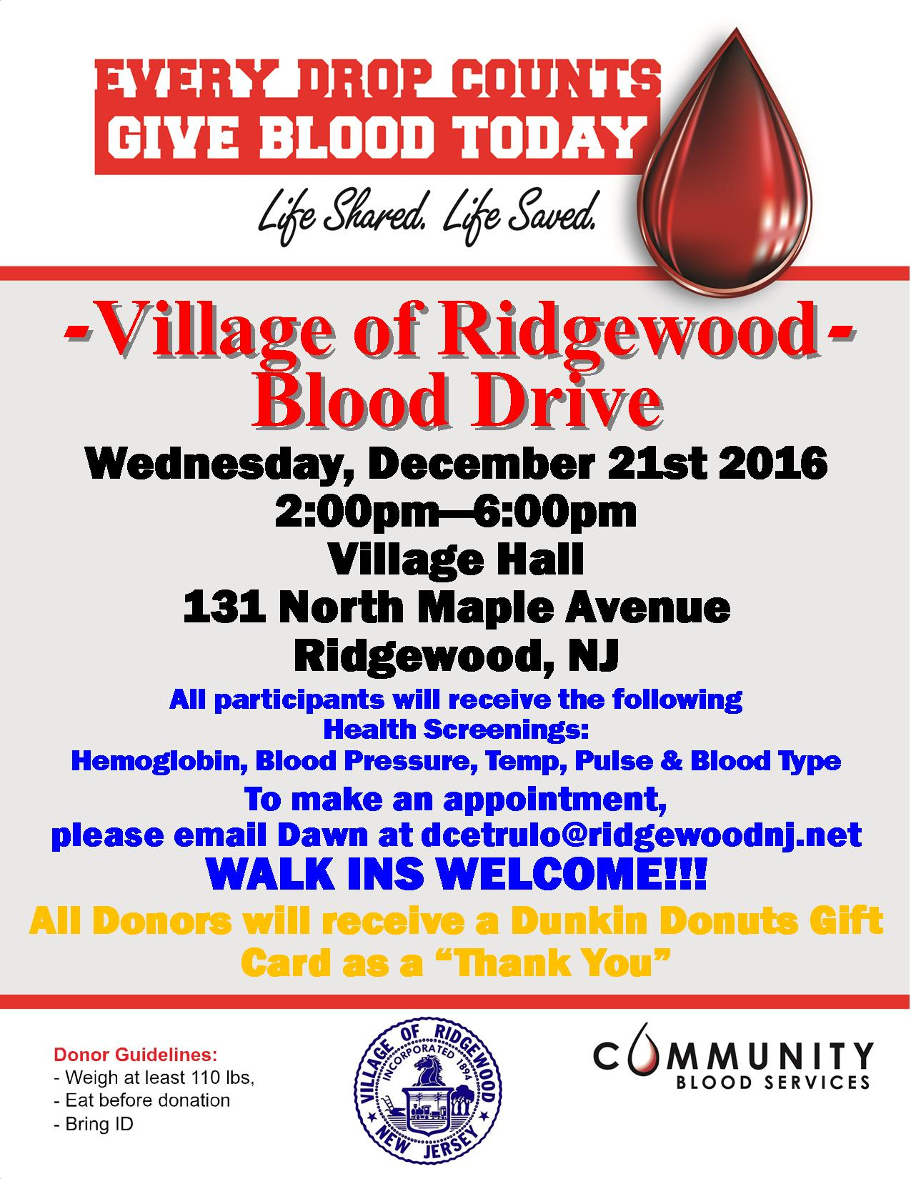 Village of ridgewood health see attched flyer for information xflitez Images
